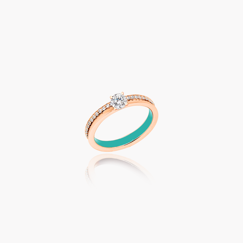 Artist Glow Diamond Engagement Ring <br>(18K Solid Gold)