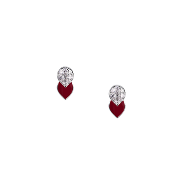 Artist Tulip Studs (Full Diamond)
