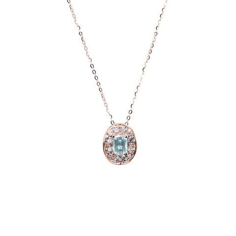 Lover Bloom Necklace (Full Diamond)