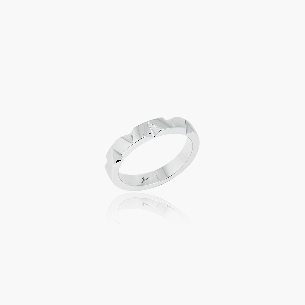 Edgy Facets Wedding Ring<br>(9K Solid Gold)