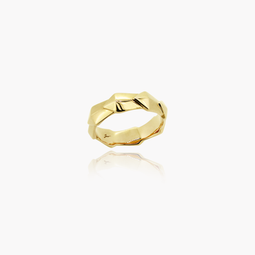 Edgy Icon Wedding Ring<br>(9K Solid Gold)
