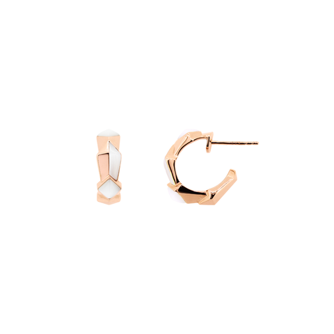 Edgy Baby Hoops<br> (No Diamonds, 18K Solid Gold)