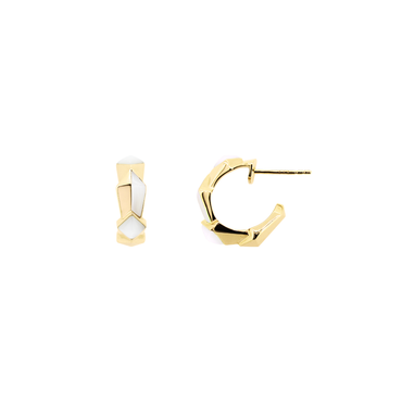 Edgy Baby Hoops<br> (No Diamonds, 9K Solid Gold)