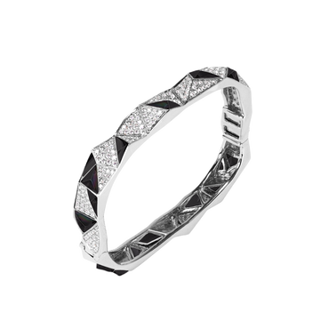 Edgy Bangle <br>(Full Diamond, 9K Solid Gold)