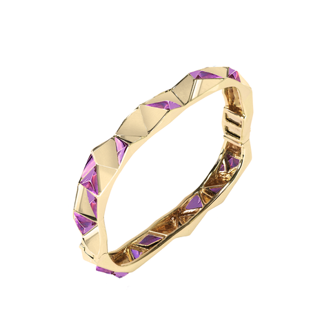 Edgy Bangle<br>(No Diamonds, 9K Solid Gold)