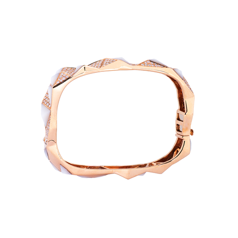 Edgy Bangle (Semi-Diamond)