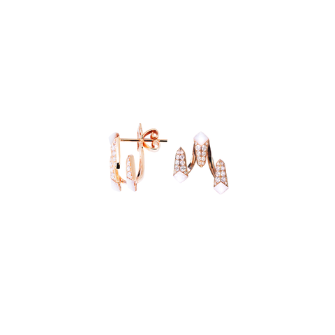 Edgy Jacket Studs<br> (Semi-Diamond, 18K Solid Gold)
