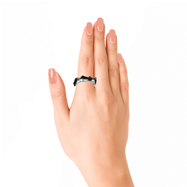 Edgy Unisex Ring<br> (No Diamonds, 18K Solid Gold)