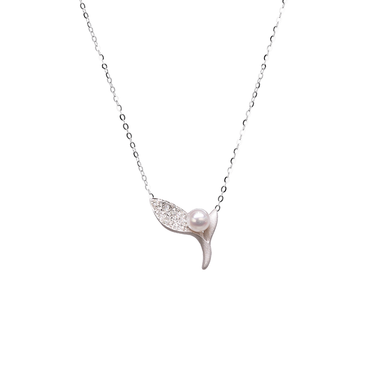 Ocean Kelp Necklace<br> (Full Diamond, 18K Solid Gold)