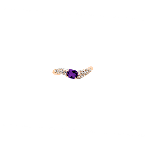 Lover Heartbeat Wedding Ring<br>(Diamonds, 18K Solid Gold)