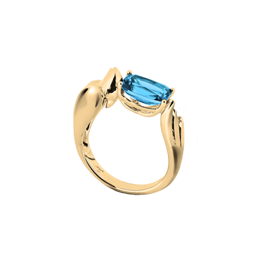 Lover Peace Ring<br> (No Diamonds, 9K Solid Gold)