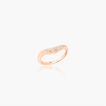 Lover Spark Wedding Ring<br>(Diamonds, 18K Solid Gold)