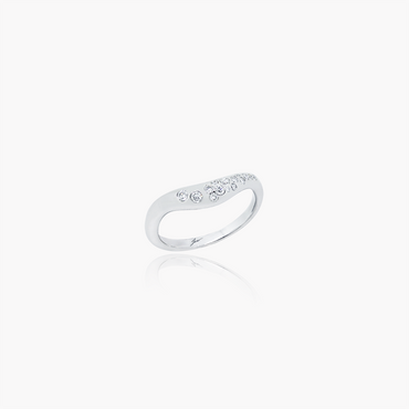 Lover Spark Wedding Ring<br>(Diamonds, 9K Solid Gold)