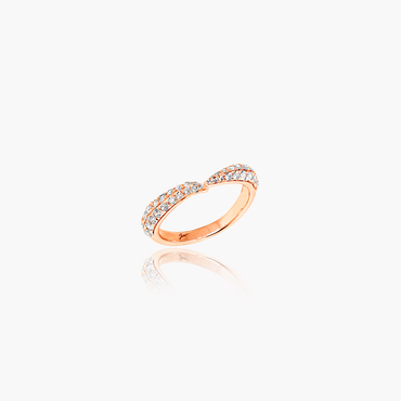 Lover Valentine Wedding Ring<br>(Diamonds, 18K Solid Gold)