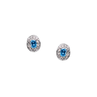 Lover Bloom Studs (Full Diamond)