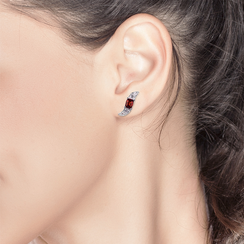 Lover Breeze Studs<br>(Full Diamond, 18K Solid Gold)