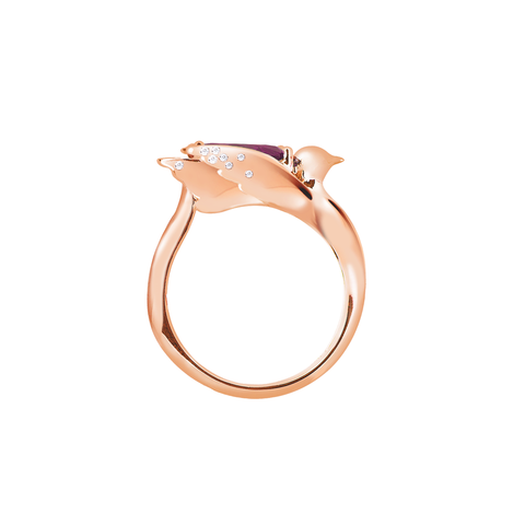 Lover Grace Ring<br> (Semi-Diamond, 18K Solid Gold)
