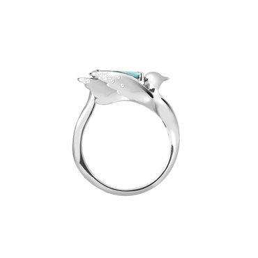 Lover Grace Ring<br> (Semi-Diamond, 9K Solid Gold)