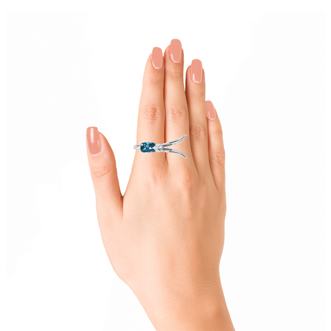 Lover Hope Ring<br> (Semi-Diamond, 18K Solid Gold)