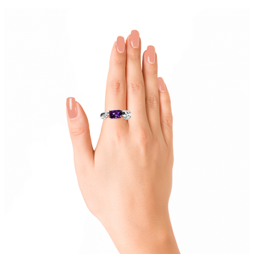 Lover Peace Ring<br>(No Diamonds, 18K Solid Gold)