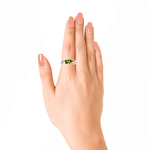 Lover Peace Ring<br> (Full Diamond, 9K Solid Gold)