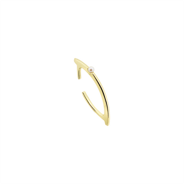 Ocean Dew Ear Cuff (9K Solid Gold)