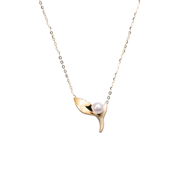 Ocean Kelp Necklace <br>(No Diamonds, 9K Solid Gold)