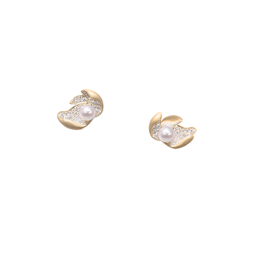 Ocean Lily Studs (Full Diamond)