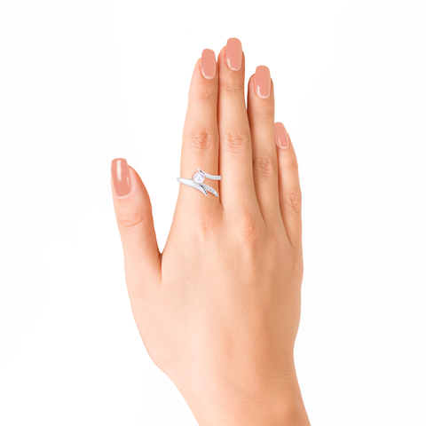 Ocean Reef Ring <br>(Semi-Diamond, 9K Solid Gold)