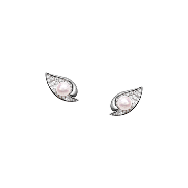 Ocean Shell Studs <br>(Full Diamond, 18K Solid Gold)