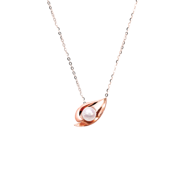 Ocean Shell Necklace <br>(No Diamonds, 18K Solid Gold)