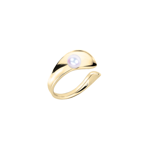 Ocean Surf Ring<br> (No Diamonds, 18K Solid Gold)