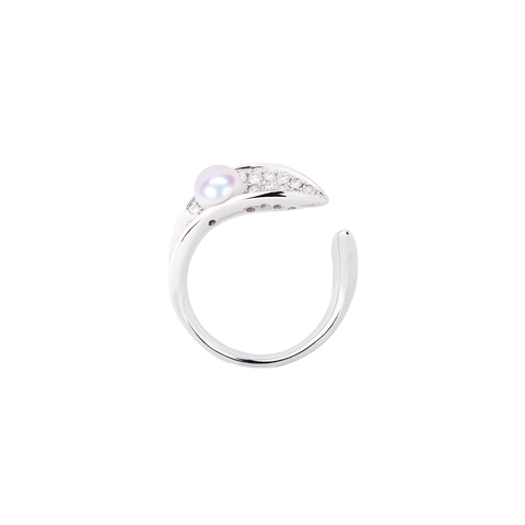 Ocean Surf Ring<br> (Full Diamond, 9K Solid Gold)