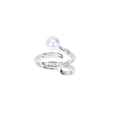 Ocean Wave Ring (Full Diamond)