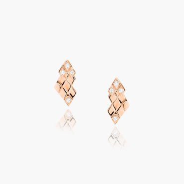 Rockstar Baby Rock Earrings (18K Solid Gold)