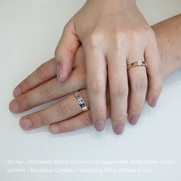 Rockstar Blaze Diamond Engagement Ring (18K Solid Gold)