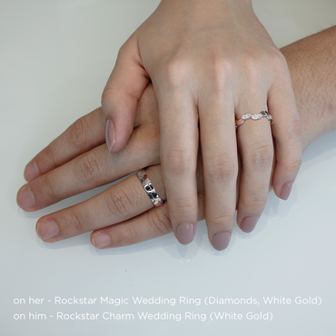 Rockstar Magic Wedding Ring (Diamonds, 9K Solid Gold)