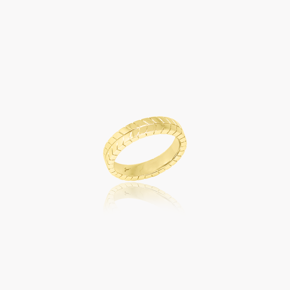 Rockstar Collision Wedding Ring (9K Solid Gold)