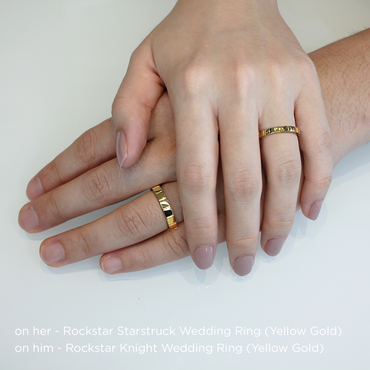 Rockstar Starstruck Wedding Ring<br>(18K Solid Gold)
