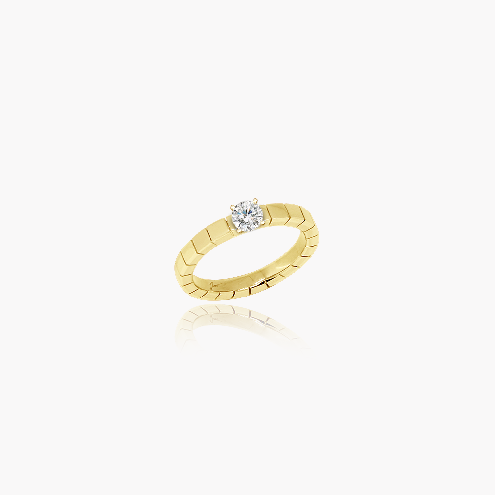 Rockstar Starstruck Diamond Engagement Ring <br>(9K Solid Gold)