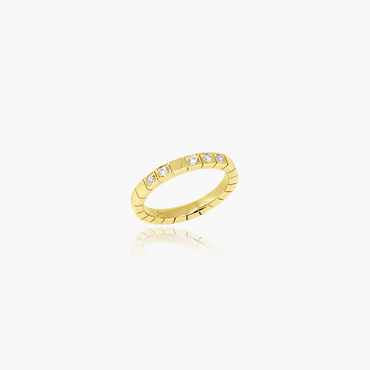 Rockstar Starstruck Wedding Ring<br>(Diamonds, 18K Solid Gold)