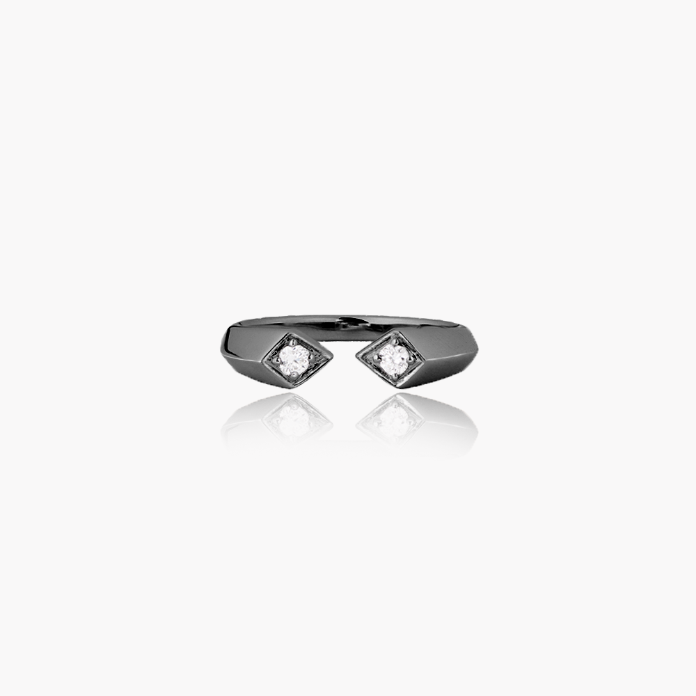 Rockstar Synth Unisex Ring<br> (Semi-Diamond, 9K Solid Gold)
