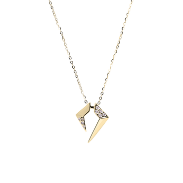 Rockstar Encore Unisex Necklace (Semi-Diamond, 9K Solid Gold)