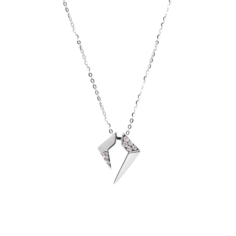 Rockstar Encore Unisex Necklace (Semi-Diamond, 18K Solid Gold)