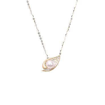 Ocean Shell Necklace <br>(Full Diamond, 9K Solid Gold)