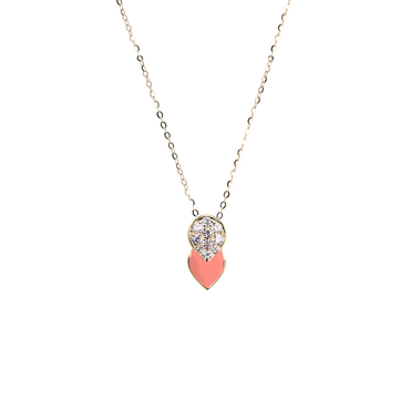 Artist Tulip Necklace<br> (Full Diamond, 9K Solid Gold)