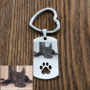 Custom DIY Dog Tag Photo Keychain