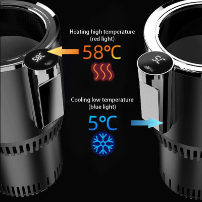 Intelligent Car Cup Warmer Cooler 2 in 1 with Smart Digital Display