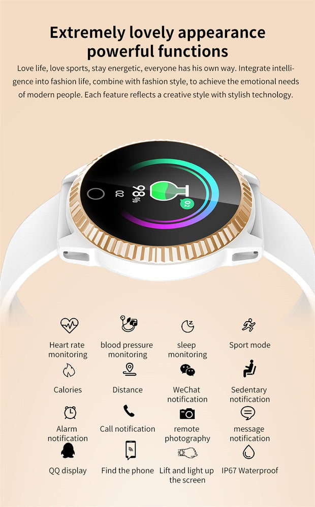 Smart Fashion Fitness Tracker Watch