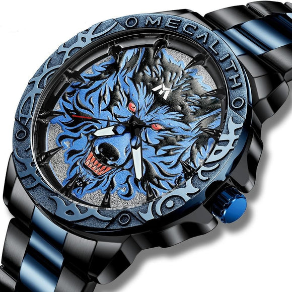 Premium Wolf Head Embossed Watch - Smart Choice Gears